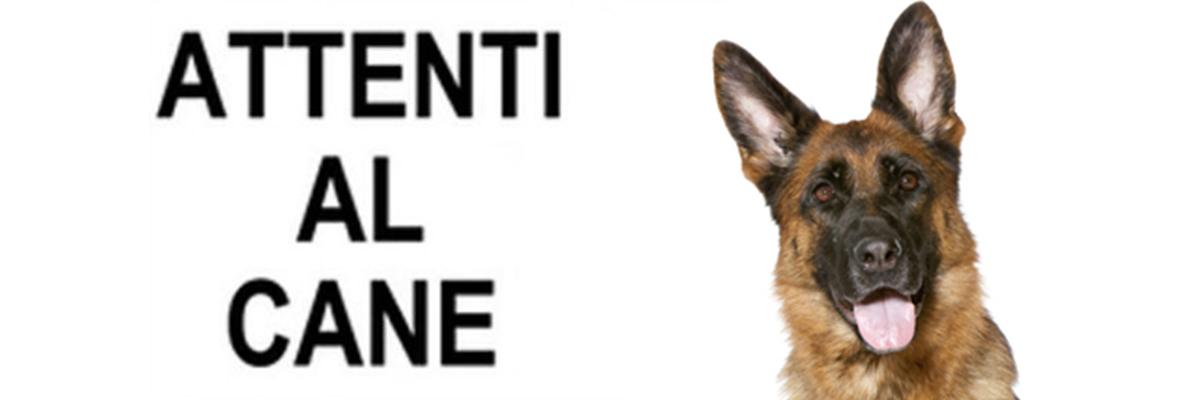 ATTENTI AL CANE…MA ATTENTO ANCHE IL PADRONE PERCHE' IL SOLO CARTELLO NON BASTA!