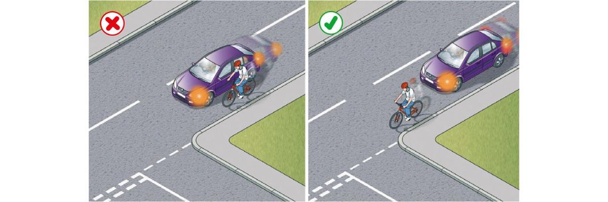 Rischio revisione della patente per chi taglia la strada