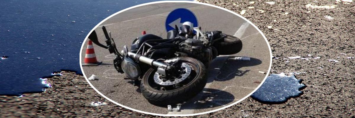 Caduta per olio sull'asfalto. Il caso fortuito va provato